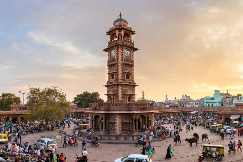 Clock tower on Jodhpur