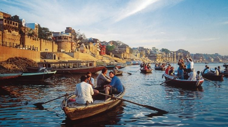 Morning boat ride on the Ganges in Varanasi