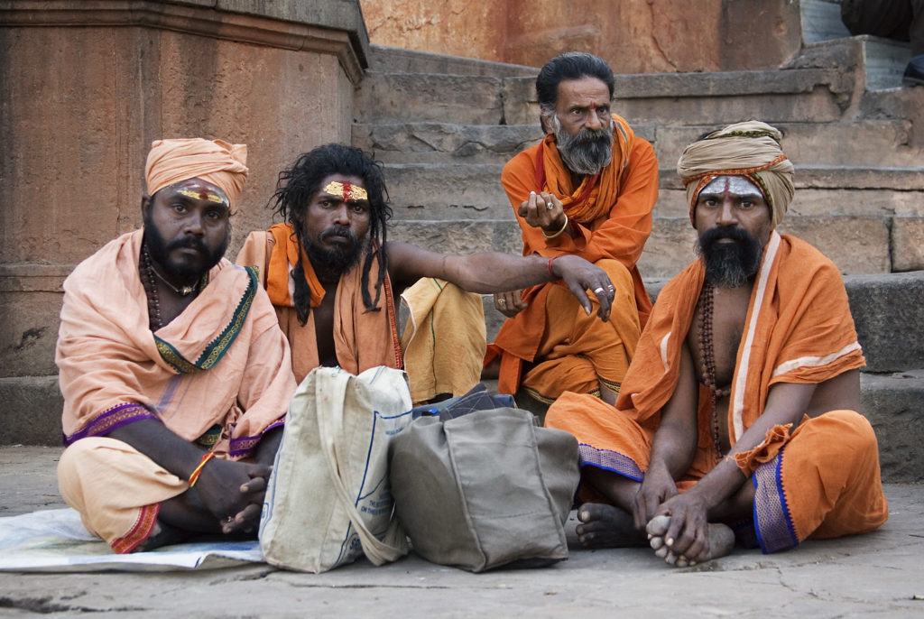 Sadhus clicked during stroll around the Ghats in Varanasi